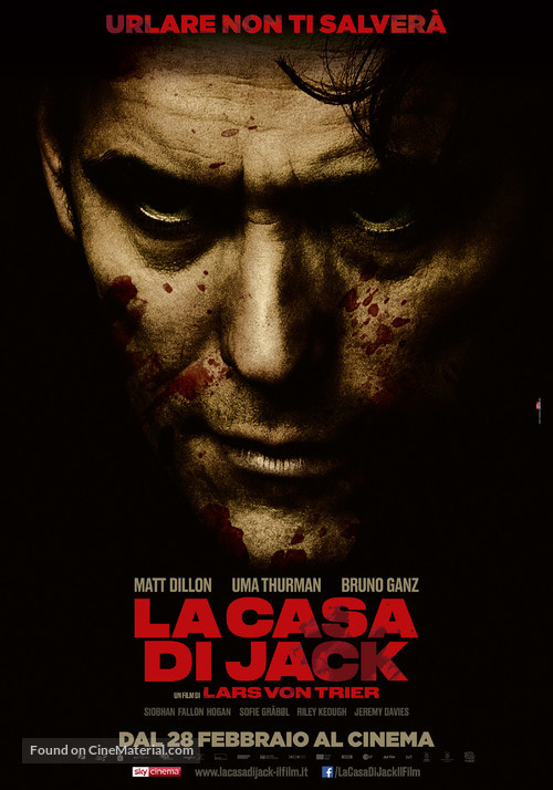 The House That Jack Built - Italian Movie Poster
