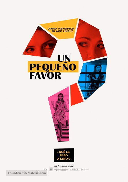 A Simple Favor - Peruvian Movie Poster