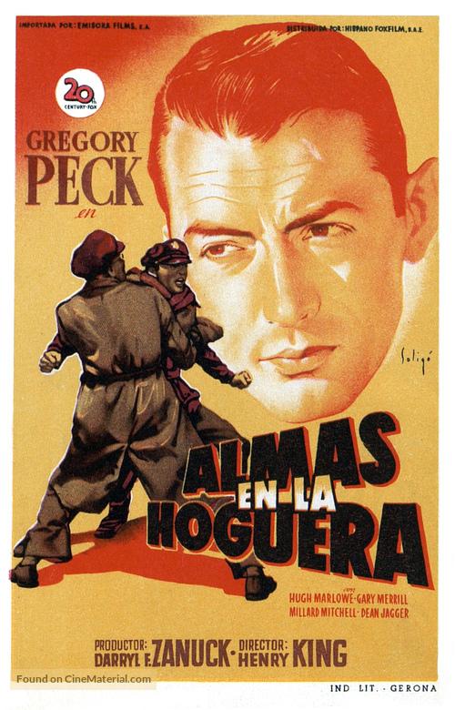 Twelve O'Clock High - Spanish Movie Poster