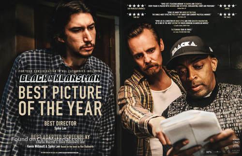 BlacKkKlansman - British Movie Poster