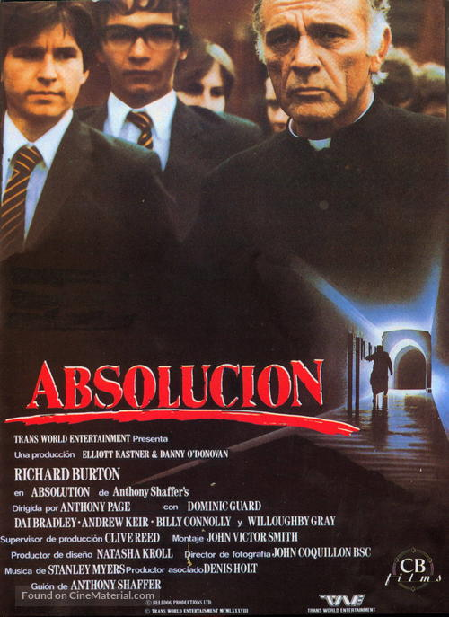 Absolution - Spanish Movie Poster