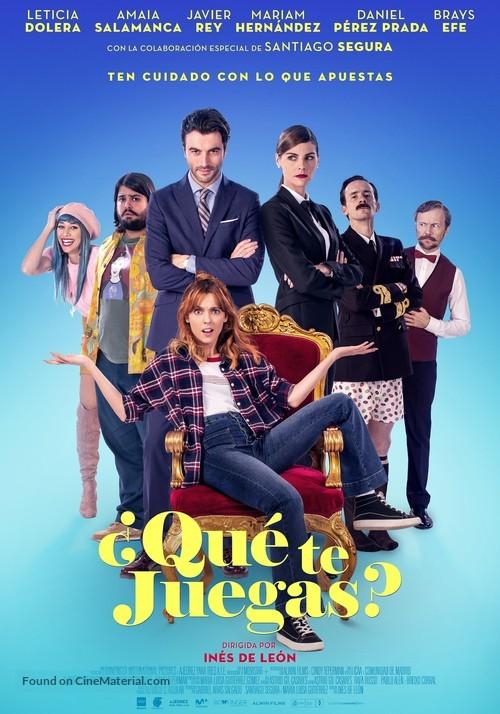 ¿Qué te juegas? - Spanish Movie Poster