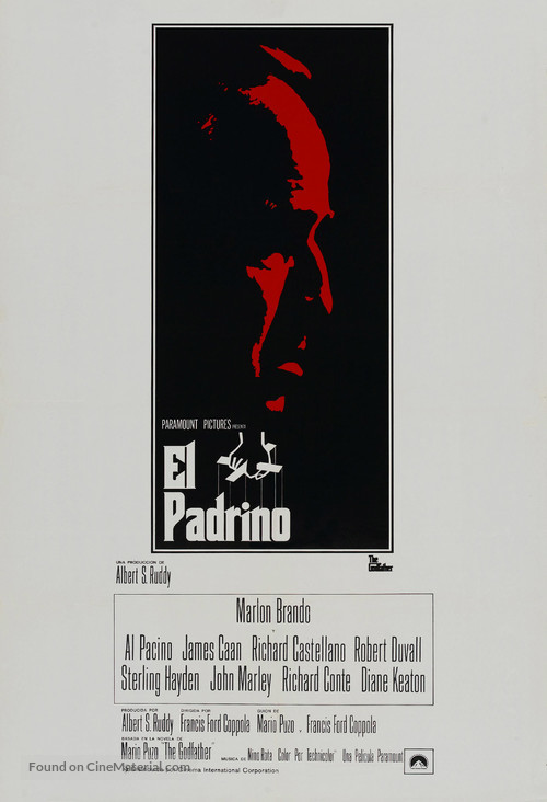The Godfather - Puerto Rican Movie Poster