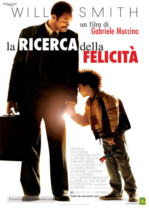 The Pursuit of Happyness - Italian Movie Poster