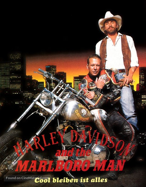 Harley Davidson And The Marlboro Man German Dvd Cover