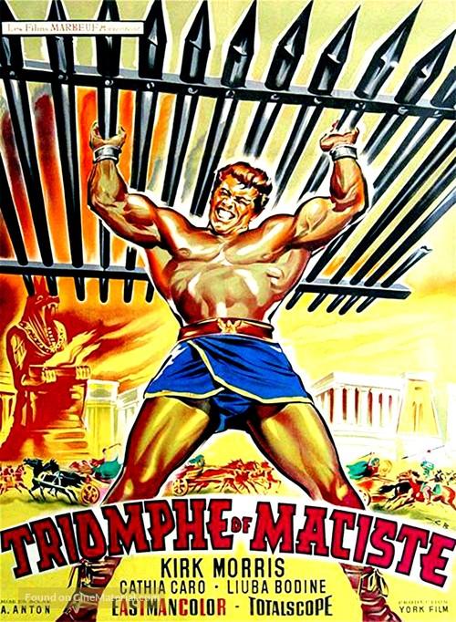 Il trionfo di Maciste - French Movie Poster