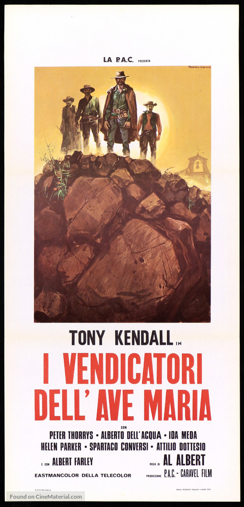 I vendicatori dell'Ave Maria - Italian Movie Poster
