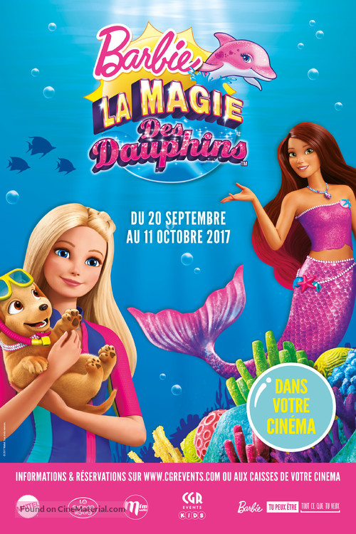 Barbie Dolphin Magic French Movie Poster