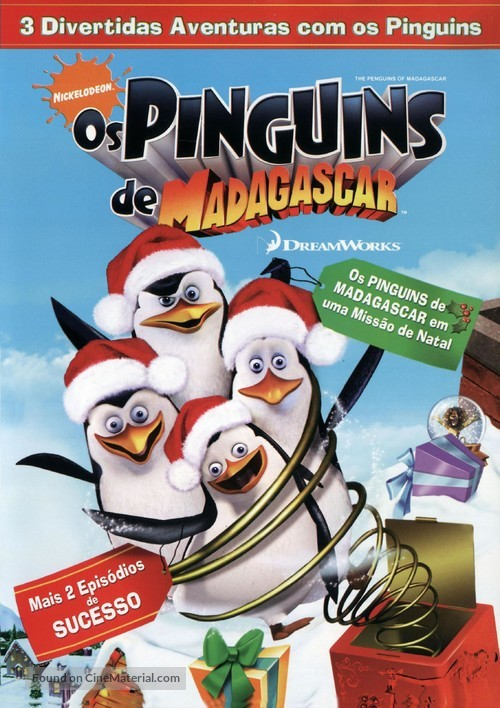 The Madagascar Penguins in: A Christmas Caper - Brazilian DVD movie cover