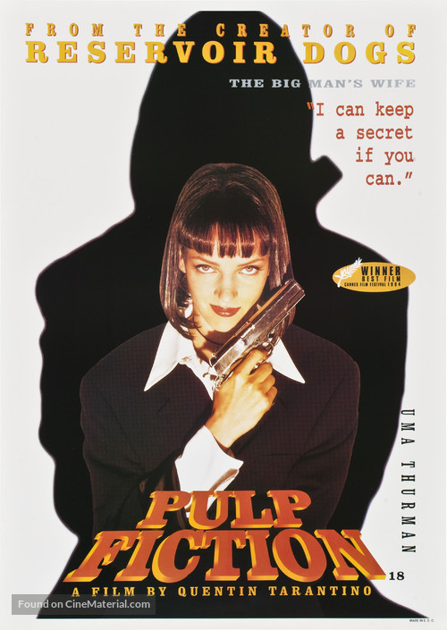 Pulp Fiction - British Movie Poster