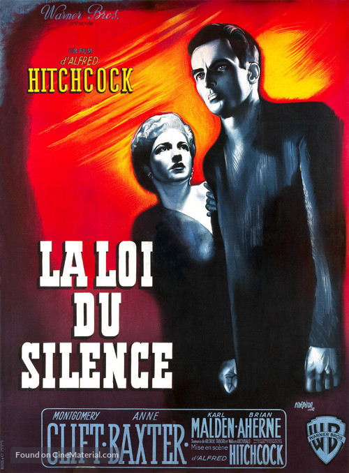I Confess - French Movie Poster