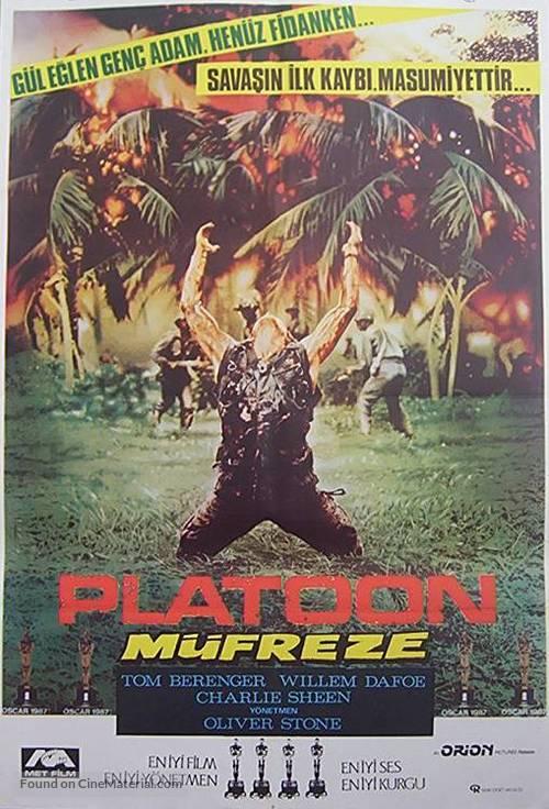 Platoon - Turkish Movie Poster