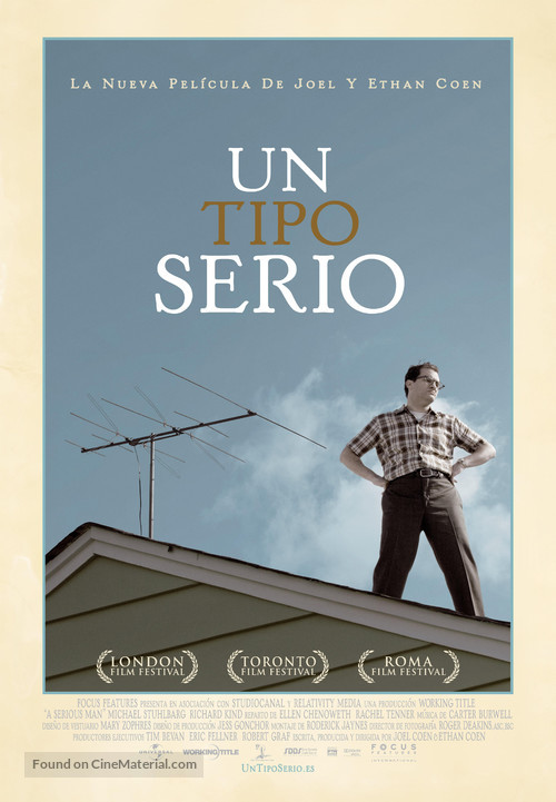 A Serious Man - Spanish Movie Poster