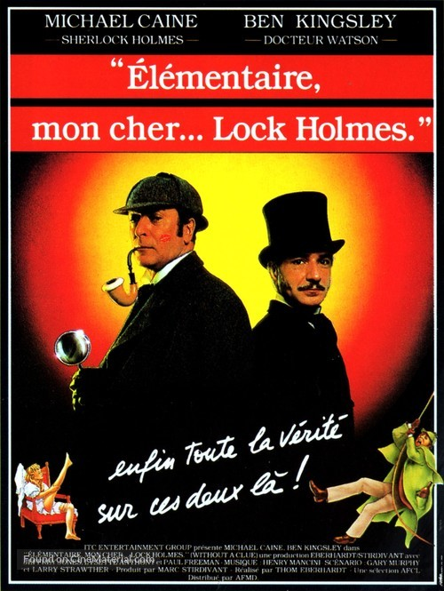 Without a Clue - French Movie Poster