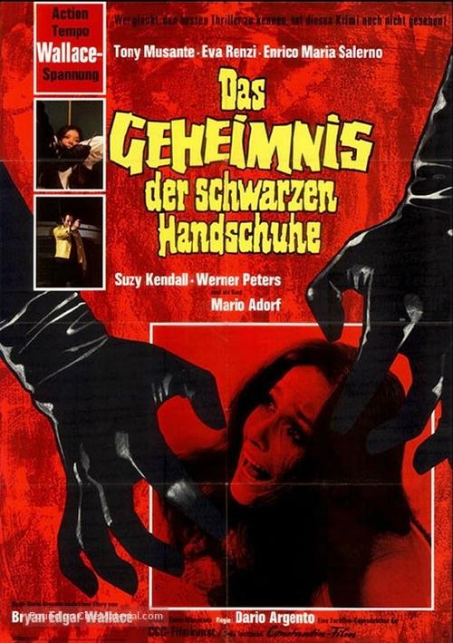 L'uccello dalle piume di cristallo - German Movie Poster