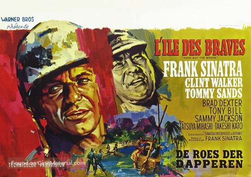 None But the Brave - Belgian Movie Poster
