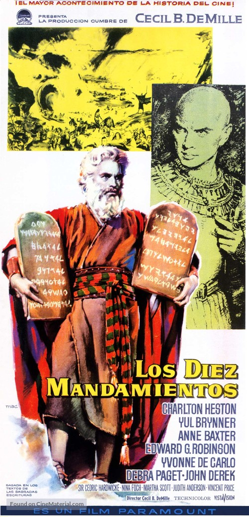The Ten Commandments - Spanish Movie Poster