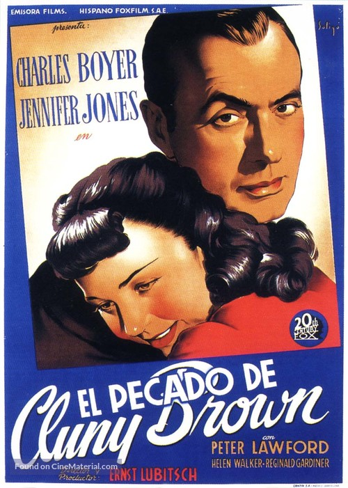 Cluny Brown - Spanish Movie Poster