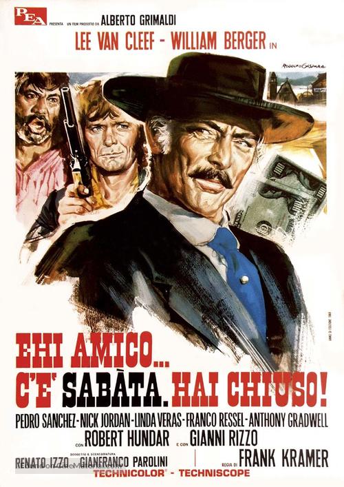 Ehi amico... c'è Sabata, hai chiuso! - Italian Movie Poster