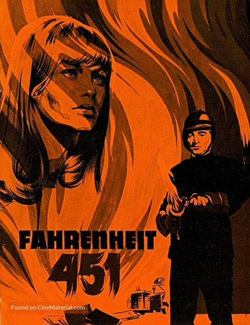 Fahrenheit 451 - Danish Movie Poster
