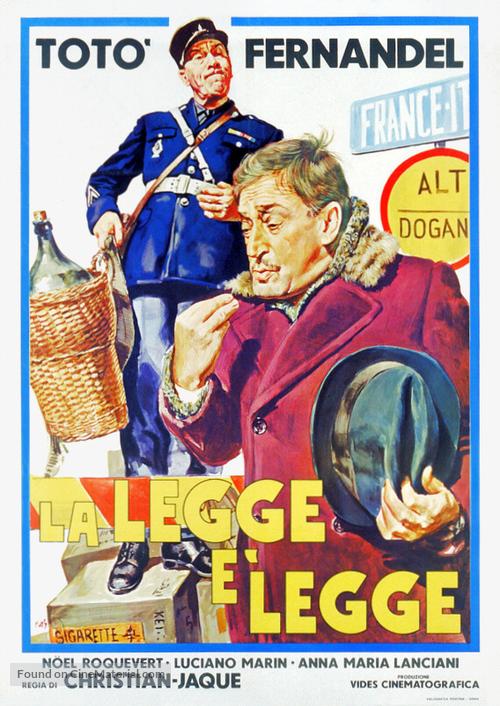 La legge è legge - Italian Theatrical movie poster