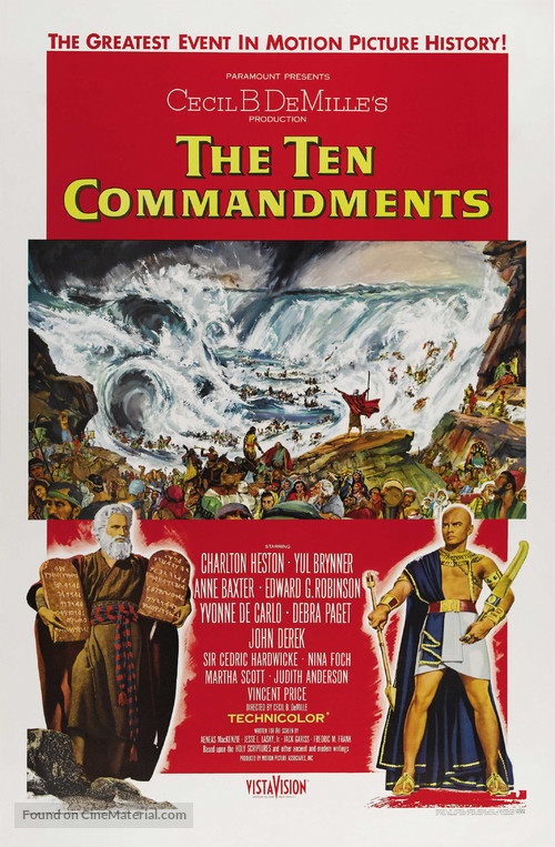 The Ten Commandments - Theatrical movie poster
