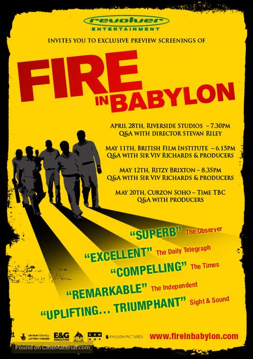 Fire in Babylon - British Movie Poster