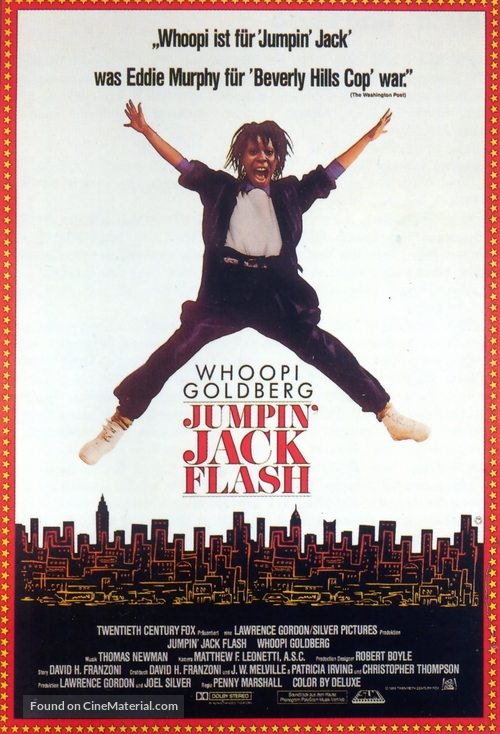 Jumpin' Jack Flash - German Movie Poster