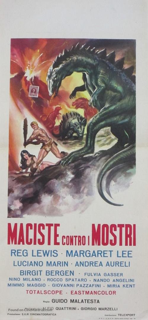Maciste contro i mostri - Italian Movie Poster