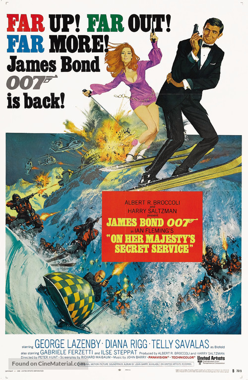 On Her Majesty's Secret Service - Movie Poster