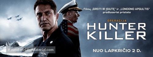 Hunter Killer - Lithuanian poster