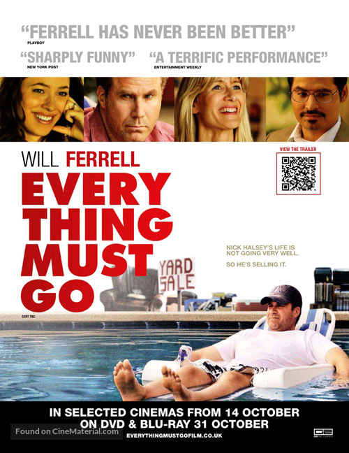 Everything Must Go - British Movie Poster