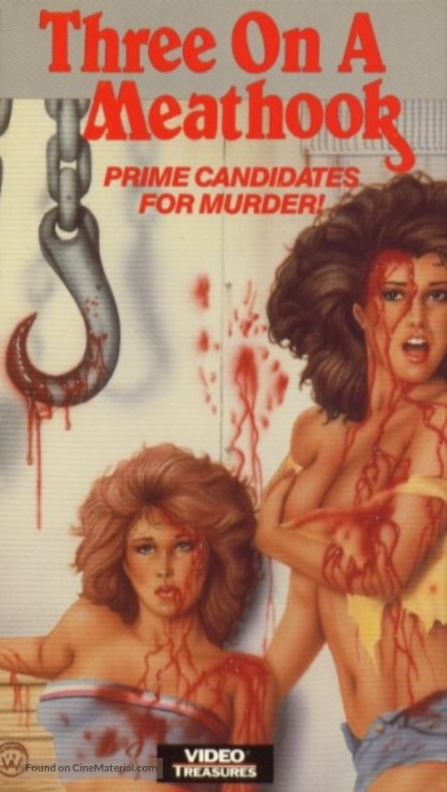 Three on a Meathook - VHS movie cover