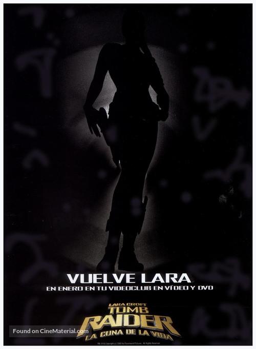 Lara Croft Tomb Raider The Cradle Of Life 2003 Spanish