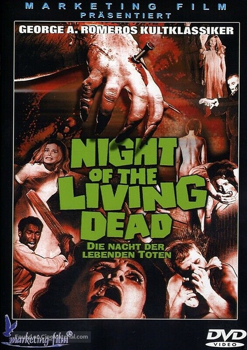 Night of the Living Dead - German DVD movie cover