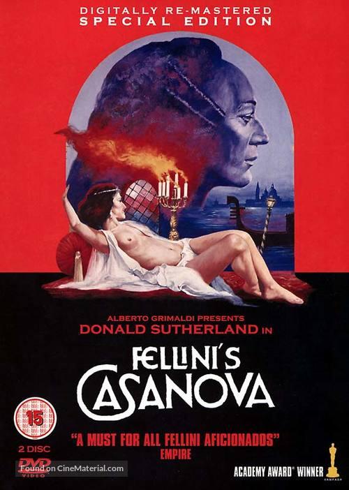 Il Casanova di Federico Fellini - British DVD cover