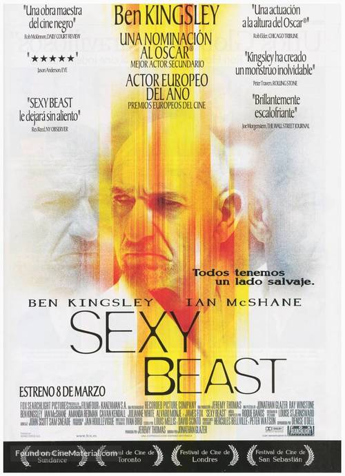 Sexy Beast - Spanish Movie Poster