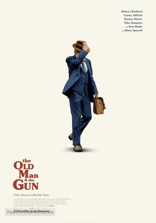 Old Man and the Gun - Dutch Movie Poster