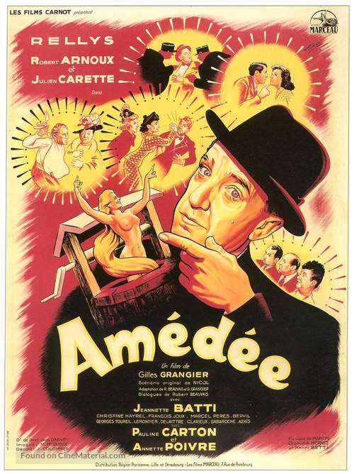 Amèdèe - French Movie Poster