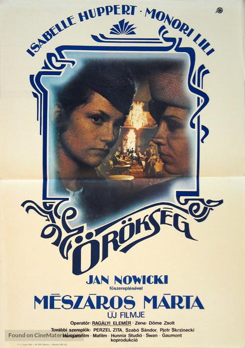 Örökség - Hungarian Movie Poster