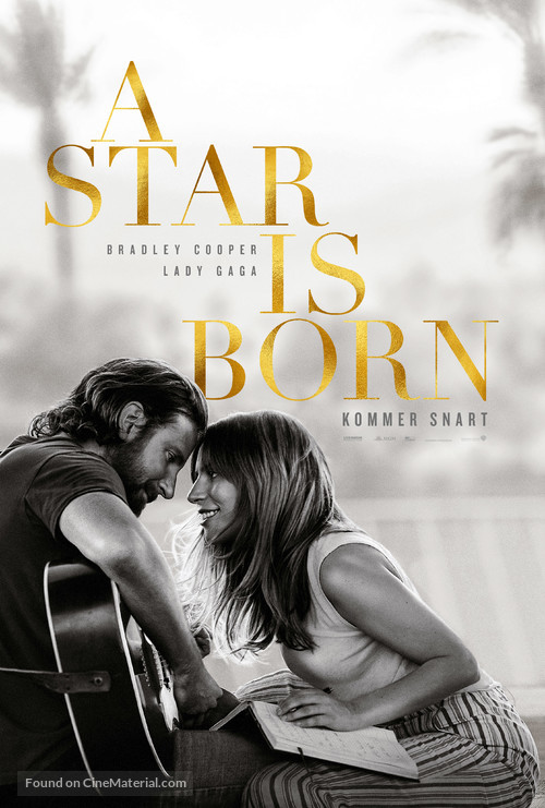 A Star Is Born - Danish Movie Poster