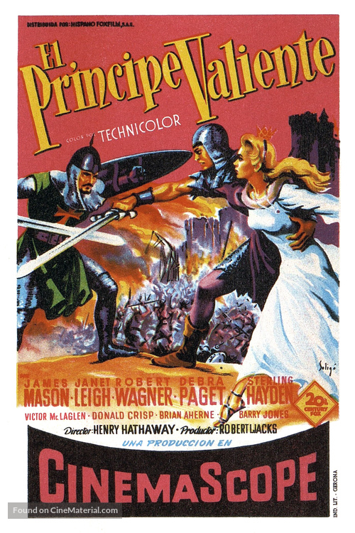 Prince Valiant - Spanish Movie Poster