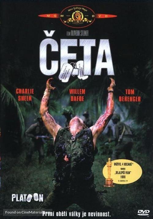 Platoon - Czech DVD movie cover