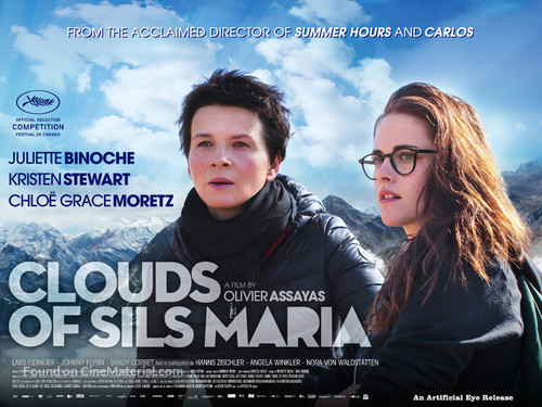 Clouds of Sils Maria - British Movie Poster