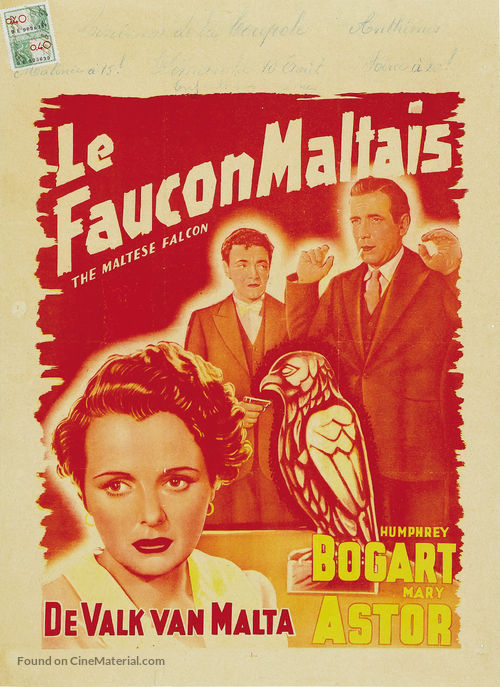 The Maltese Falcon - Belgian Movie Poster