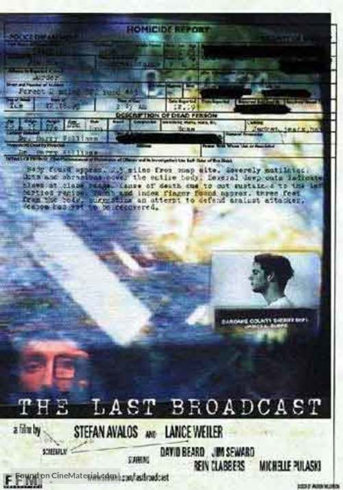 Image result for The Last Broadcast movie poster