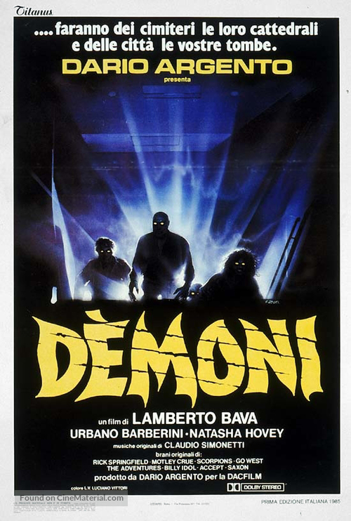 Demoni - Italian Movie Poster