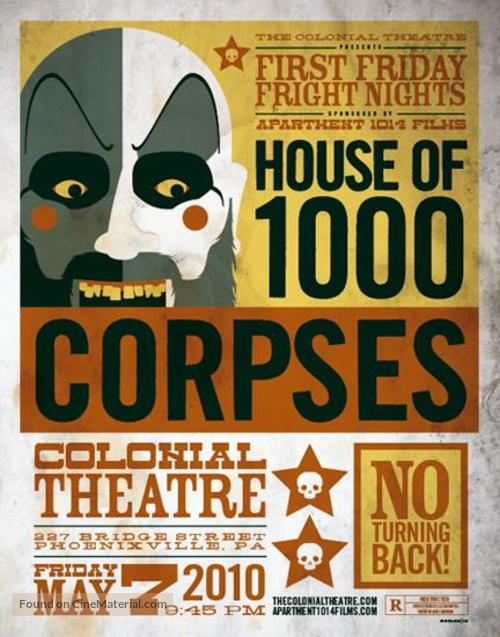 House of 1000 Corpses - Re-release movie poster