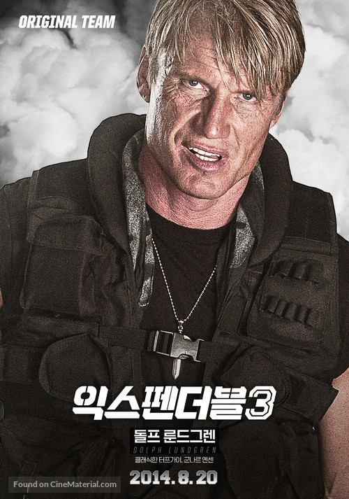 The Expendables 3 - South Korean Movie Poster