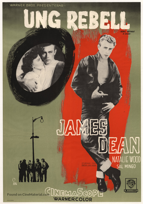 Rebel Without a Cause - Swedish Movie Poster